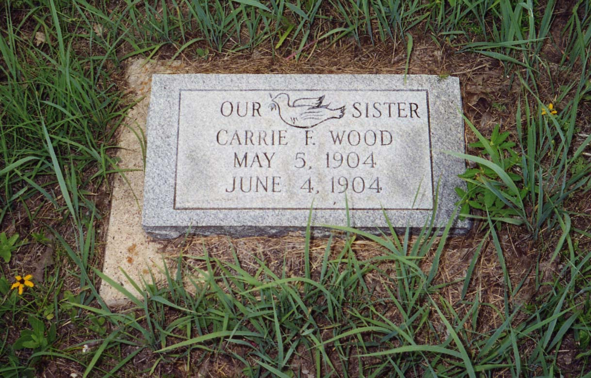 Our Sister  Carrie F. Wood  May 5, 1904  June 4, 1904